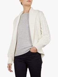 Ted Baker Filena Chunky Cable Knit Cardigan Ivory