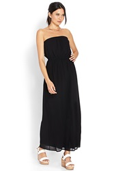 Forever 21 Maxi Chiffon Tube Dress Red