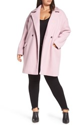 Leith Plus Size Oversize Double Breasted Coat Purple Fragrant