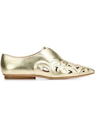 Derek Lam 'Kyoto' Loafers Metallic