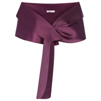 Kaliko Satin Shawl Dark Purple