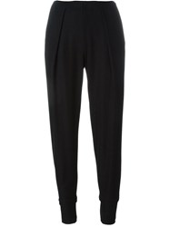 Emporio Armani Pleated High Waisted Trousers Black