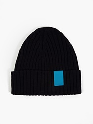 Oamc Navy Ribbed Beanie Hat