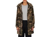 Vis A Vis Women's Camouflage Cotton Blend Hooded Parka Green