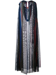 Missoni Mesh Knit Hooded Cape Blue
