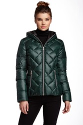 Guess Quilted Puffer Jacket Green