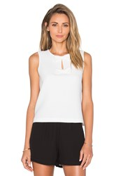 Kate Spade Sleeveless Bow Top Cream