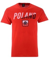 Fifth Sun Poland National Team Gym Wedge World Cup T Shirt Red Red White