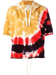 Faith Connexion Tie Dye Shortsleeved Hoodie Yellow Orange