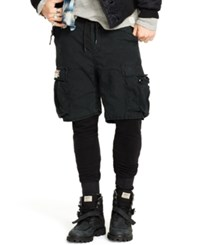 Denim And Supply Ralph Lauren Camo Short Over Active Pants Polo Black