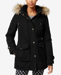 Rachel Roy Faux Fur Trim Hooded Parka Only At Macy's Black