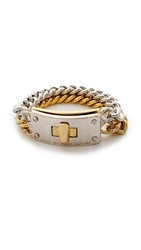 Marc By Marc Jacobs Lock In Double Vision Bracelet Oro Multi