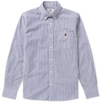 A Bathing Ape 1St Camo Stripe Shirt Blue