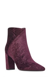 Nine West Women's Argyle Bootie Purple Fabric