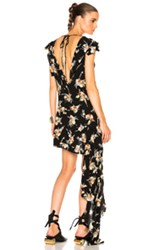 Marni Sleeveless Printed Tunic In Black Floral Black Floral