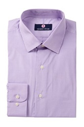 Alexander Julian Striped Long Sleeve Regular Fit Shirt Purple