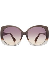Tod's Tods Oversize Sunglasses With Leather Grey