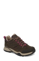 The North Face Hedgehog Ii Gore Tex Waterproof Running Shoe Bone Brown Wild Aster Purple