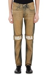 Hood By Air Men's The Knees Jeans Brown