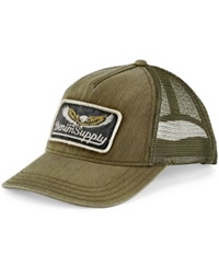 Denim And Supply Ralph Lauren Herringbone Trucker Hat Olive