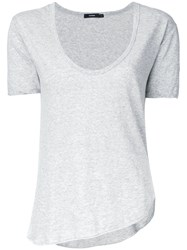 Bassike Scoop Neck T Shirt Grey