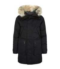 Nobis The Yatesy Fur Trimmed Parka Coat Male Navy