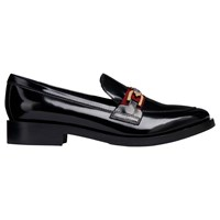 Geox 'S Donna Flat Loafers Black Leather