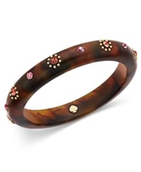 Kate Spade New York Out Of Her Shell Gold Tone Tortoiseshell Look Bangle Bracelet Horn