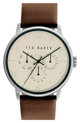 Ted Baker Multifunction Watch 42Mm Dark Brown