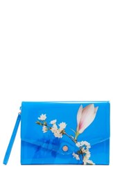 Ted Baker London Harmony Envelope Clutch Blue Bright Blue
