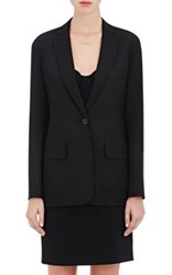 Alexander Wang Women's Stretch Virgin Wool Elongated Blazer Black