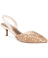 Impo Elate Slingback Pumps Women's Shoes Natural Ivory