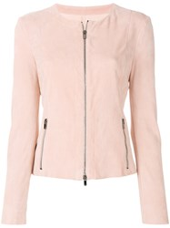 Drome Zipped Fitted Jacket Pink And Purple