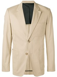 Ami Alexandre Mattiussi Half Lined Two Buttons Jacket Neutrals