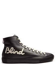 Gucci Blind For Love High Top Leather Trainers Black Multi