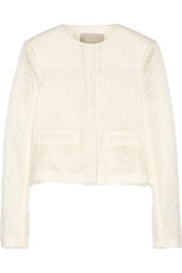 Jason Wu Embroidered Lace And Cotton Blend Jacket