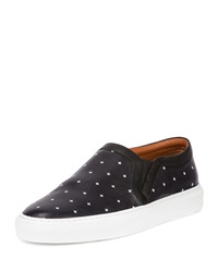 Givenchy Cross Pattern Leather Skate Shoe Black White