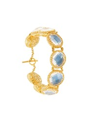 Larkspur And Hawk Olivia Auzre Foil Button Bracelet Gold