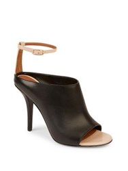 Givenchy Leather Ankle Strap Mules Black Natural