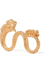 Valentino Rooster Gold Plated Three Finger Ring