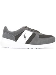 Polo Ralph Lauren Logo Embroidered Sneakers Grey