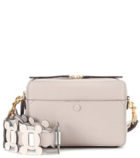 Anya Hindmarch The Stack Leather Crossbody Beige