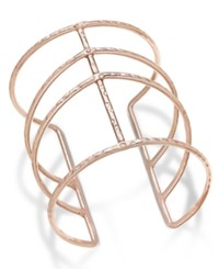 Inc International Concepts Rose Gold Tone Open Cuff Bracelet Only At Macy's