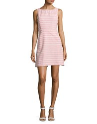 Jessica Simpson Striped Tweed Fit And Flare Dress Pink