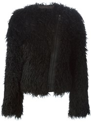 Zadig And Voltaire 'Vienna' Faux Fur Jacket Black