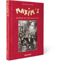 Assouline Maxim's Mirror Of Parisian Life Hardcover Book Red