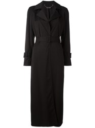 Twin Set Belted Trench Coat Black