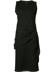 Brunello Cucinelli Draped Waist Dress Black