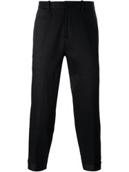 Neil Barrett Cuffed Ankle Trousers Black