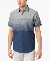 Inc International Concepts I.N.C. Men's Ombre Shirt Created For Macy's Dream Blue